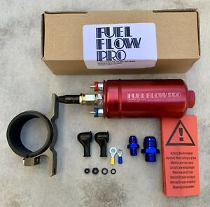 Fuel Flow Pro 300lhp Universal Inline Fuel Pump w Helicoil Replaces Bosch 044