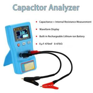 Portable Digital Capacitor Esr Meter Capacitance Tester With Smd Test Clips Q8r7