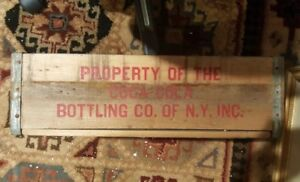 RARE Vintage 1960's Coca-Cola Wooden Crate Bottles  Sections New York Rare BOX