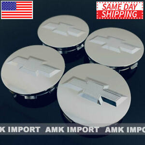 4x Studded Chrome Wheel Center Hub Caps For Chevy Silverado Suburban Tahoe 3 25