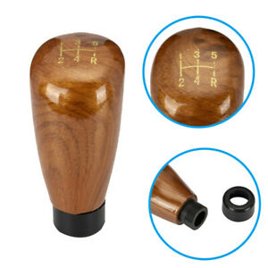 Manual Gear Stick Shift Knob Shifter Cover 5 Speed Imitation Peach Wooden Color