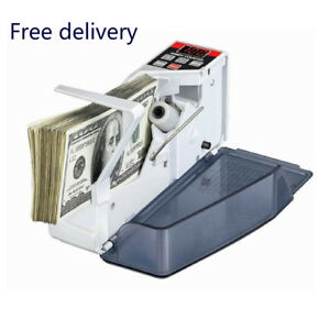 Bill Cash Money Currency Counter Mini Portable Handy Counting Machine Sale Usa