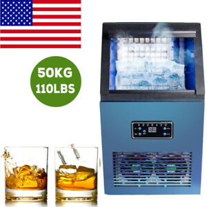 Automatic Commercial Ice Maker Cube Machine 50kg Stainless Steel Bar Coffee Shop