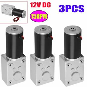 3x Dc12v Reversible 15rpm High Torque Turbo Worm Electric Geared Motor Quality