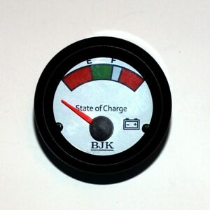 Us Stock Round Analog panel Meter 24 Volt State Of Charge