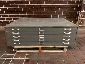 Foster Graphic Arts Steel Cabinet Blueprint Filing 5 Drawer Cabinet