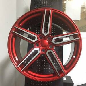 20 Hybrid Style Candy Red Wheels Rims Fits Nissan Maxima Altima