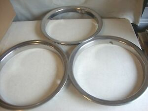 3 Wheel Trim Beauty Rings 16 Trailer Rat Rod Chevy Gto Mopar Ford