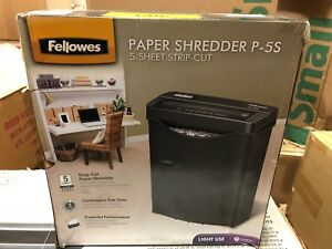 Fellowes Powershred P 5 S 5 sheet Cross cut Paper And Card Shredder Wi