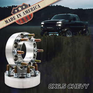 X2 8x6 5 To 8x6 5 Hub Centric Wheel Adapters 2 Spacers Chevy Gmc 2500 3500