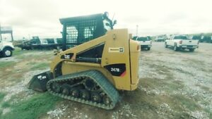 2014 Caterpillar 247b3 Cab A c Track Skid Steer Hyd Quick Attach Used