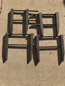 Lot Of 4 Large Vintage Machinist Clamps