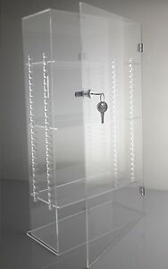 Acrylic Display Case Tower With Adjustable Shelves Door Lock And Keys