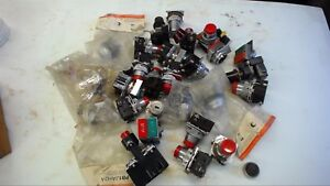 Lot Of 25 Electrical Pushbuttons And Accessories