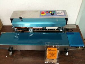 Dingye Fr 900s Horizontal Stainless Steel Continuous Band Sealer Machine