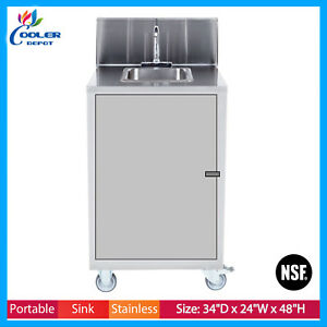 Portable 1 Compartment Sink Mobile Concession Compartment Hot Water Cooler Depot