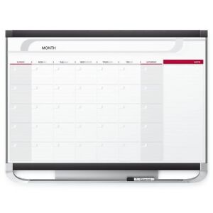 Quartet Dry Erase Calendar Board Planner Magnetic Whiteboard 4 X 3 Monthly