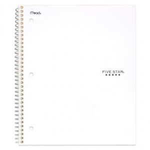 5 Subject Notebook Spiral Paper College Ruled Five Best School Student 200 Sheet
