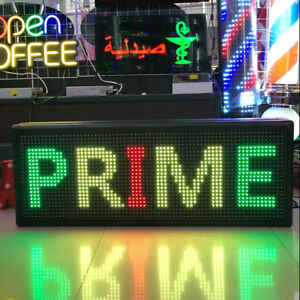 Led Sign Programmable Outdoor 40 x15 display Open Message Board Waterproof Us