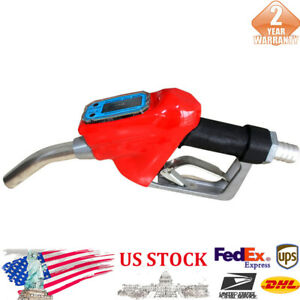 1x Oil Delivery Gun Red Nozzle Dispenser Gasoline Diesel Petro Fuel New Us