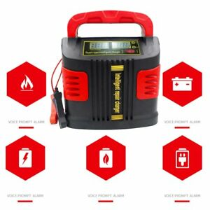 350w 14a Lcd Auto Car Intelligent Battery Charger 12v 24v Vehicle Jump Starter Q
