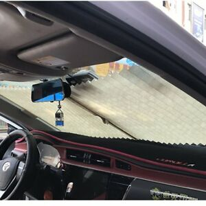 Hanging Car Blinds Automatic Retractable Sun Shade Pleated Window Curtains