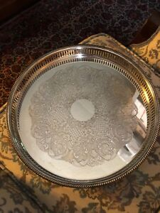 Vintage Silver Footed Serving Tray By Essay If Canada