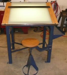Graphic Arts Light Table glass Work Or Hobby Work
