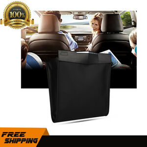 Car Trash Bag Can Litter Garbage Headrest Wastebasket Holder Hanging Keeper