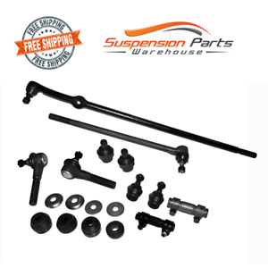 Front Rebuild Steering Kit Tie Rod End For 97 Ford F 250 Hd Twin I beam Axle