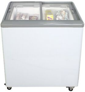 31 Ice Cream Glass Display Chest Freezer Commercial Mobile Nsf Cooler Depot