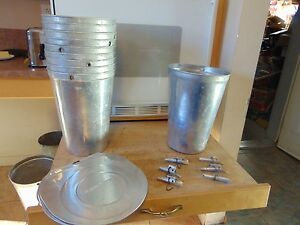 30 Maple Syrup Aluminum Sap Buckets Lids Covers Taps Spiles 147