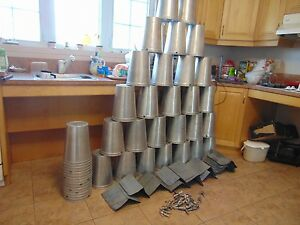 6 Maple Syrup Aluminum Sap Buckets Lids Covers Taps Spiles 124