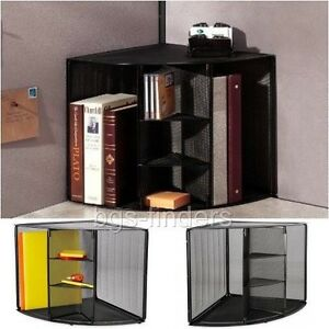 Corner Shelf Desktop Mesh Organizer Shelves Storage Book Holder Office Home New