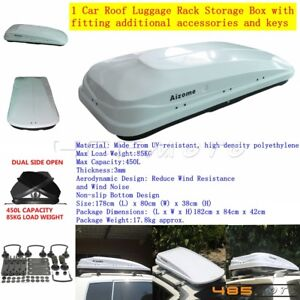 450l 85kg Universal Car Roof Box Rooftop Rack Luggage Pod Storage Cargo Carrier