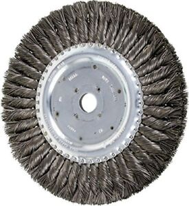 Pferd 81698 Standard Twist Knot Wheel Brush Carbon Steel Wire 8 Diameter 3 4