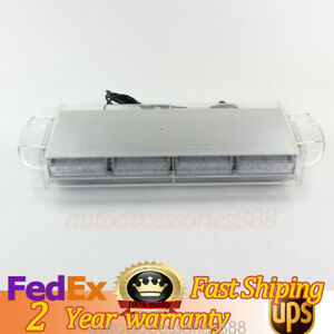 New Work Alarm Warning Led Strobe Light Bar 21 Inch Amber Yellow Truck Us