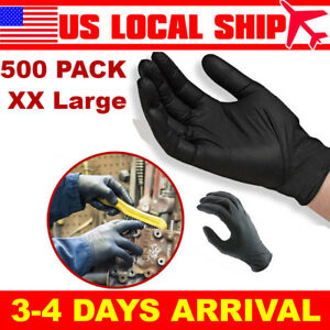 500pcs Xxl Disposable Nitrile Rubber Gloves Mechanic Food Non Slip Latex Free