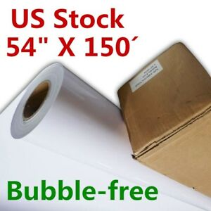 Us Stock 54 X 150 Removable Grey Glue Self adhesive Vinyl Film Vehicle Wrap