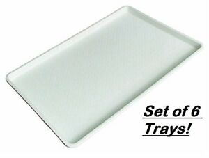Winco Plastic Tray White 18 By 26 Inch set Of 6