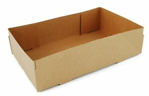Southern Champion Tray 0122 Kraft Paperboard 4 Corner Pop Up Food Tray 8 5 8