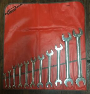 Snap on 11 Piece Metric 6 32 Mm Standard Open End Wrench Set Made In Usa
