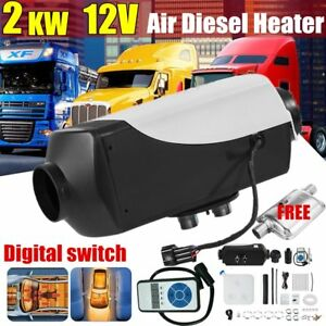 12v 2kw Air Diesel Heater Tank vent duct For Trucks boats bus digital Switch Us