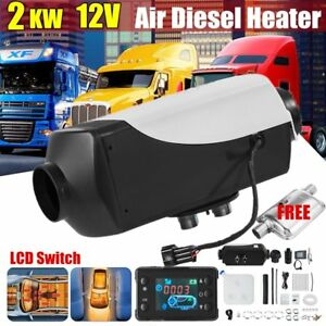 12v 2kw Air Diesel Fuel Heater Set For Trucks Boats Bus Outlet Lcd Switch Us