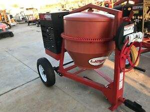 New Allen Eng Concrete Mixer 9cf 8 Hp Steel Drum