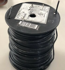 Cme Wire Cable 10 Awg Stranded Machine Tool Black 500 Feet 600v C 10 Thhn 500ft