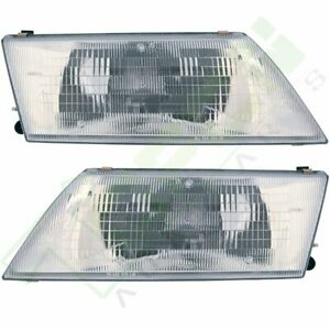 Passenger driver Side Assembly Pair Head Lamps 95 99 Sentra For Nissan