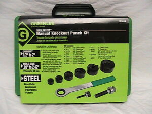 1 New Greenlee Slugbuster Manual Knockout Punch Kit 7238sb 1 2 2 Conduit