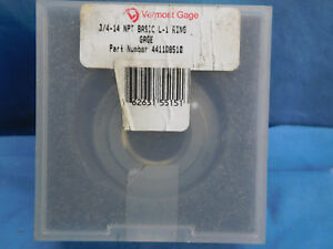 Vermont Gage 441108510 3 4 14 Npt Basic L 1 Threaded Ring Gage New
