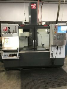 Used 2012 Haas Vf 2 Cnc Vertical Machining Center Mill 15k Rpm 30hp Wips Auger